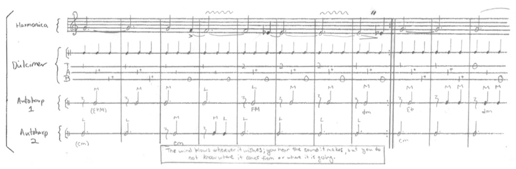 Excerpt from the score for Mystery